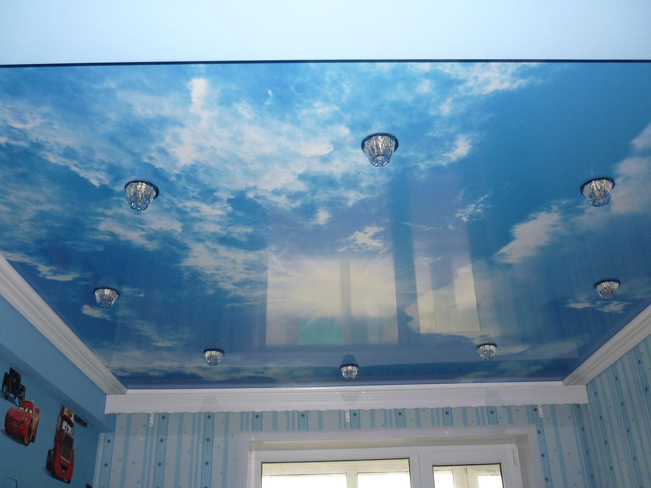 Натяжные потолки Небо установка под ключ