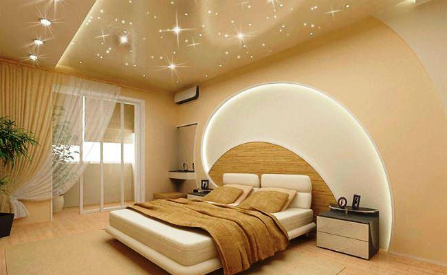 Правильная установка освещения на натяжной потолок