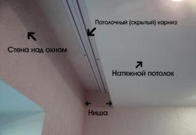 Скрытый карниз для натяжного потолка